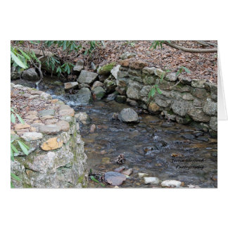 Stream at Mabry Mill in the Blue Ridge Mountains Card