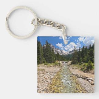 stream in Contrin Valley Acrylic Keychain