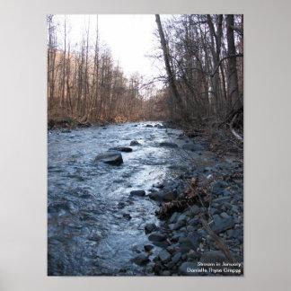Stream in January - Print
