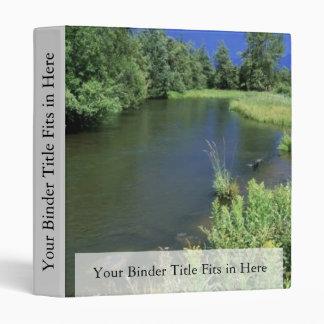 Stream in National Bison Range, Montana Vinyl Binder