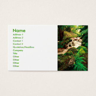Stream in the forest business card