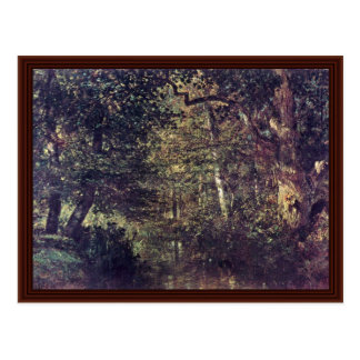 Stream In The Woods By Troyon Constant Post Cards