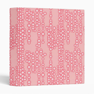 Stream of bubbles, coral pink 3 ring binder