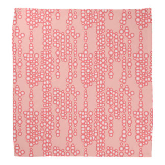 Stream of bubbles, coral pink bandana