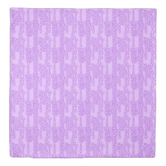 Stream of bubbles, shades of lavender duvet cover