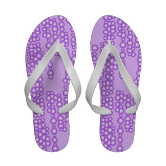 Stream of bubbles shades of lavender Flip-Flops