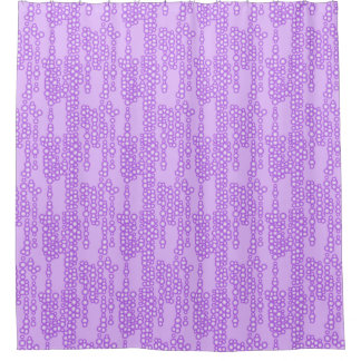 Stream of bubbles, shades of lavender shower curtain