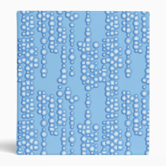 Stream of bubbles, shades of light blue 3 ring binder
