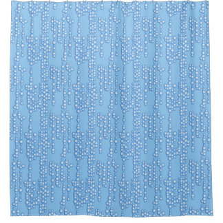 Stream Of Bubbles Shades Light Blue Shower Curtain