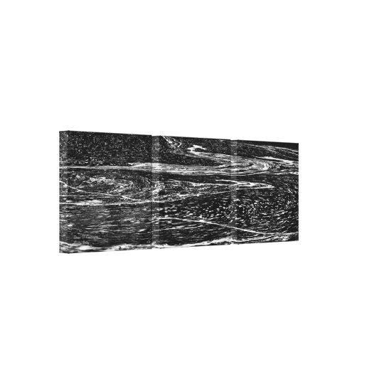 Stream of Consciousness Triptych Canvas Print