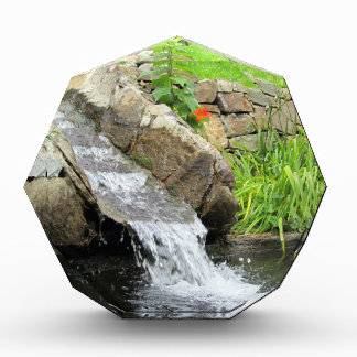 Stream of water running over rocks acrylic award