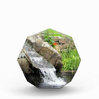 Stream of water running over rocks award