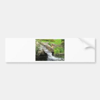 Stream of water running over rocks bumper sticker