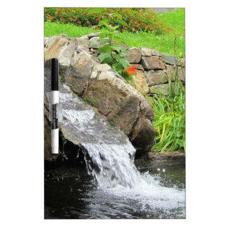 Stream of water running over rocks dry erase whiteboards