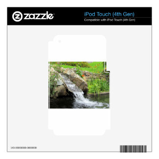 Stream of water running over rocks skin for iPod touch 4G