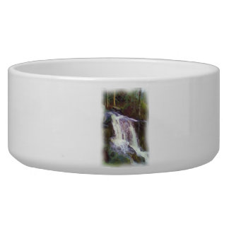 stream oil paint pet food bowl