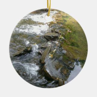 Stream Rapids Ceramic Ornament