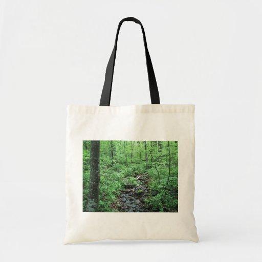 Stream Running Through Forrest Glen Tote Bags