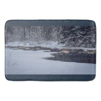 Stream, Trees and Snow Bath Mat