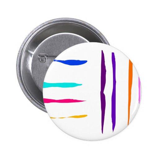 Streamers 2 Inch Round Button
