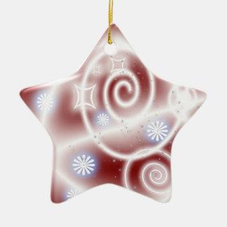 streamers ceramic ornament