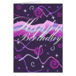 Streamer's & Confetti Birthday Card