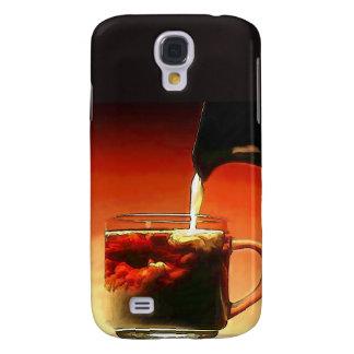Streaming Cream Into Coffee Samsung Galaxy S4 Covers