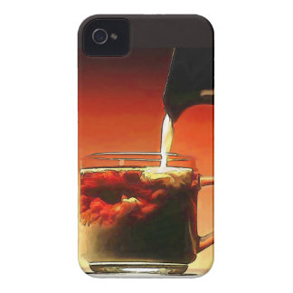 Streaming Cream Into Coffee iPhone 4 Case-Mate Case