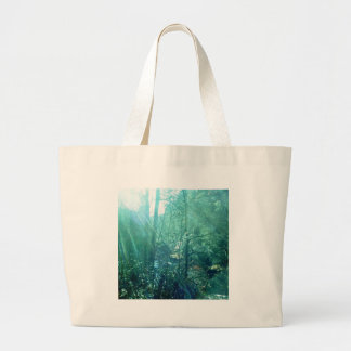 streaming light creek large tote bag