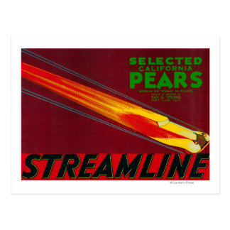 Streamline Pear Crate LabelSanta Clara, CA Postcard