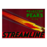 Streamline Pear Crate LabelSanta Clara, CA Poster