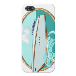 Streamlined Yacht in Oval Sea & Sky iPhone SE/5/5s Cover