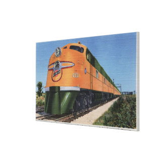 "Streamliner ""400"" to Milwaukee Canvas Print"