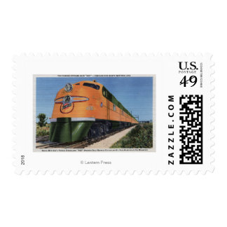 "Streamliner ""400"" to Milwaukee Stamp"
