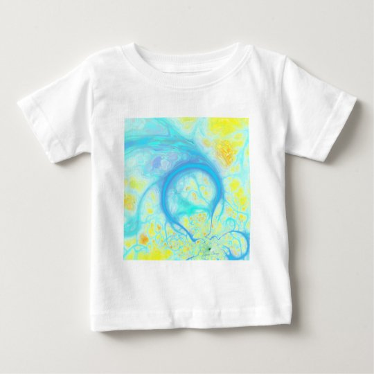 Streams of Joy – Cosmic Aqua & Lemon Baby T-Shirt