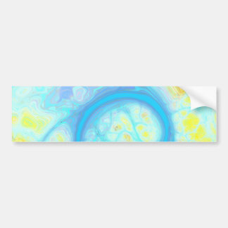 Streams of Joy – Cosmic Aqua & Lemon Bumper Sticker