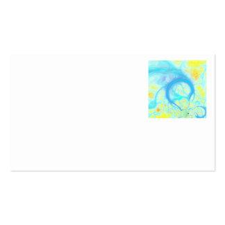 Streams of Joy – Cosmic Aqua & Lemon Business Card