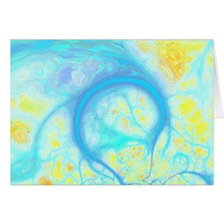 Streams of Joy – Cosmic Aqua & Lemon Greeting Cards