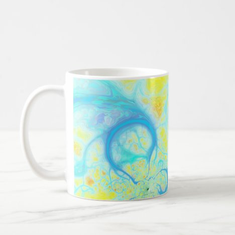 Streams of Joy – Cosmic Aqua & Lemon Coffee Mug