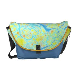 Streams of Joy – Cosmic Aqua & Lemon Courier Bag