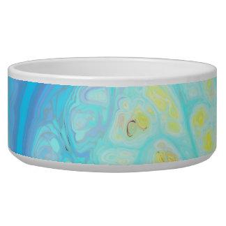 Streams of Joy – Cosmic Aqua & Lemon Dog Food Bowls