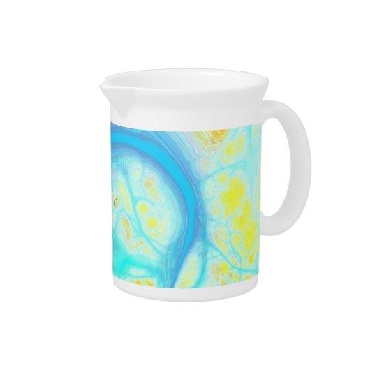 Streams of Joy – Cosmic Aqua & Lemon Drink Pitcher