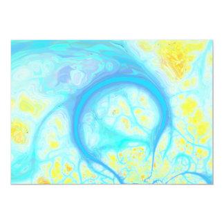 Streams of Joy – Cosmic Aqua & Lemon 5x7 Paper Invitation Card