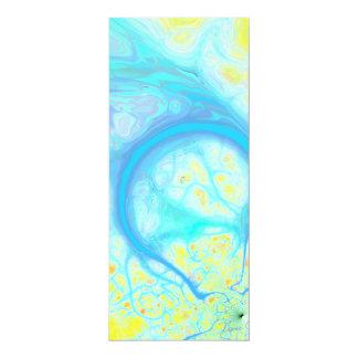 Streams of Joy – Cosmic Aqua & Lemon Personalized Invitation