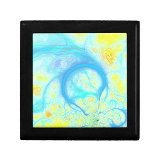 Streams of Joy – Cosmic Aqua & Lemon Jewelry Boxes