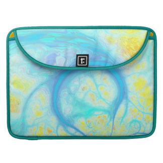 Streams of Joy – Cosmic Aqua & Lemon MacBook Pro Sleeves