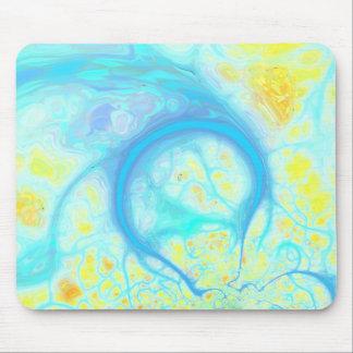 Streams of Joy – Cosmic Aqua & Lemon Mouse Pad