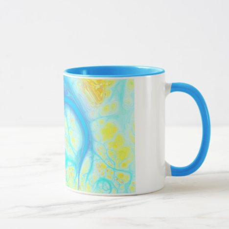 Streams of Joy – Cosmic Aqua & Lemon Mug