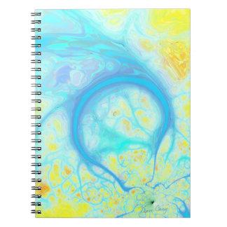 Streams of Joy – Cosmic Aqua & Lemon Spiral Notebooks