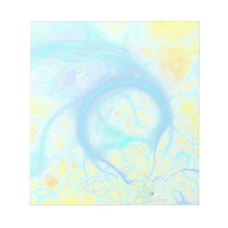 Streams of Joy – Cosmic Aqua & Lemon Notepads